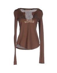 Nolita De Nimes Topwear T Shirts Women Brown