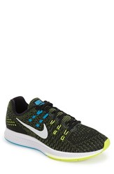 Nike Men's 'Air Zoom Structure 19' Running Shoes Black White Volt Lagoon