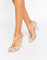 Asos Prime Heeled Shoes Gold