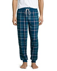 Penguin Plaid Flannel Pajama Pants W Plaid Print Blue Miami