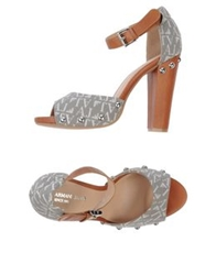 Armani Jeans Sandals Light Grey