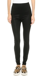David Lerner Elliot High Waisted Coated Leggings Classic Black