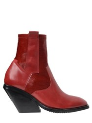 Cinzia Araia 80Mm Ponyskin And Leather Pull On Boots