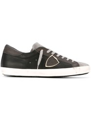 Philippe Model Logo Patch Sneakers Grey