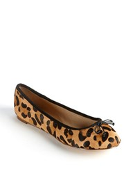 Lord And Taylor Dressen Leopard Print Calf Hair Flats