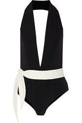 Lisa Marie Fernandez Riri Two Tone Swimsuit Black