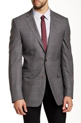 Ike Behar Pandora Mini Check Two Button Notch Lapel Wool Suit Separates Jacket Black