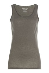 Majestic Cotton Blend Tank With Cashmere Gr. 3