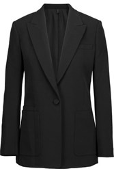 Helmut Lang Cotton Crepe Blazer Black
