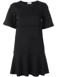Red Valentino Lace Straps T Shirt Dress Black