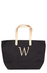 Cathy's Concepts 'Nantucket' Personalized Jute Tote Grey Black W