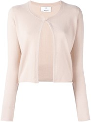 Allude Cropped Cardigan Nude And Neutrals