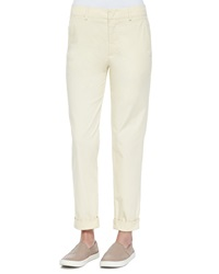 Vince Rolled Cuff Boyfriend Trousers Maize