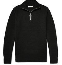 Sandro Knitted Half Zip Sweater Black