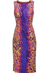 Peter Pilotto Kia Printed Stretch Crepe Dress Purple