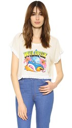 Wildfox Couture Hawaiian Boxy Fringe Tee Vintage Lace