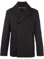 Kenzo Double Breasted Peacoat Grey