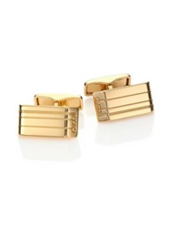 Dunhill Etched Cuff Links Gold