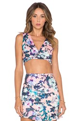 Lucca Couture X Revolve Cross Front Crop Top Pink
