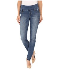Jag Jeans Nora Pull On Skinny Comfort Denim In Weathered Blue Weathered Blue Women's Navy