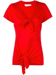 Marques Almeida Knotted T Shirt Red