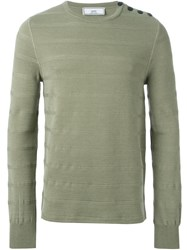 Ami Alexandre Mattiussi Striped Sweater Green