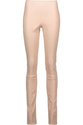Haider Ackermann Leather Leggings Beige
