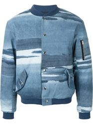 Pigalle Tie Dye Bomber Jacket Blue