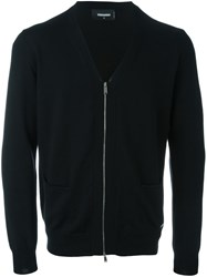 Dsquared2 Zipped Cardigan Black