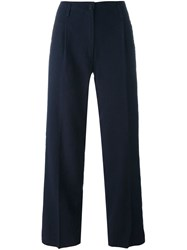 Forte Forte Tailored Straight Trousers Blue