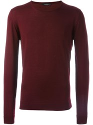 Roberto Collina Crew Neck Sweater Red