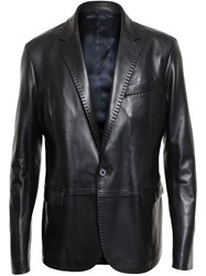 Lanvin Tailored Leather Jacket Black