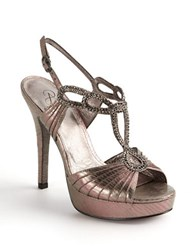 Adrianna Papell Madalen Embellished Strappy Sandals Pewter