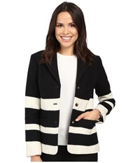 Pendleton Skyline Stripe Jacket Black Vanilla Stripe Jacquard Women's Coat