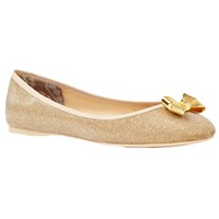 Ted Baker Imme Bow Pumps Gold Fabric