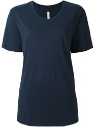 Raquel Allegra Round Neck T Shirt Blue