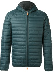 Save The Duck Hooded Puffer Jacket Green