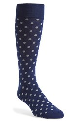 Men's The Tie Bar 'Circuit Dots' Socks Blue Blue Grey