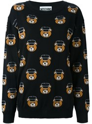 Moschino Teddy Jacquard Jumper Black