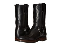 Frye John Addison Harness Black Smooth Pull Up Leather Men's Boots