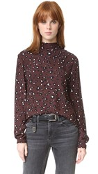 Just Female Hackett Blouse Leo Brown