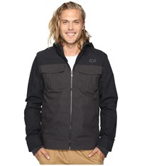 Fox Straightaway Jacket Heather Black Men's Coat