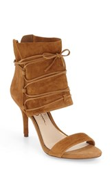Jessica Simpson Women's 'Madeena' Ghillie Ankle Wrap Sandal Honey Brown Suede