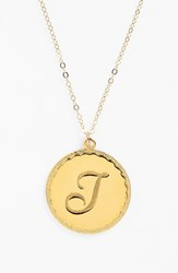 Women's Moon And Lola 'Dalton' Long Initial Pendant Necklace Gold T