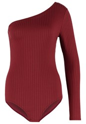 Dorothy Perkins Long Sleeved Top Red Copper