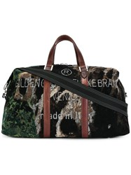 Golden Goose Deluxe Brand Woven Camouflage Holdall