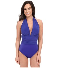 Magicsuit Solid Yves Soft Cup One Piece Twilight Women's Swimsuits One Piece Blue