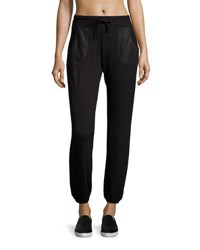 Marc New York Perforated Pocket Jogger Pants Black