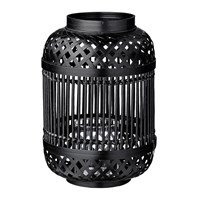 Day Birger Et Mikkelsen Bamboo Lantern With Glass Insert Black 20X30cm