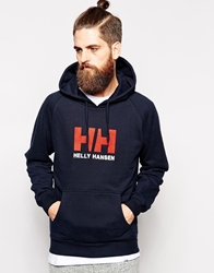 Helly Hansen Hoodie With Logo Blue